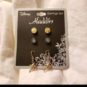 Disney's Aladdin 3 piece earring set NWT